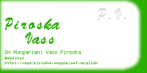 piroska vass business card